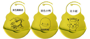 China Funny Silicone Baby Bib  With Crumb Catcher supplier