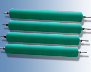 China Printing Machine Industrial Rubber Rollers , Rubber Printing Rollers With Custom Molded supplier