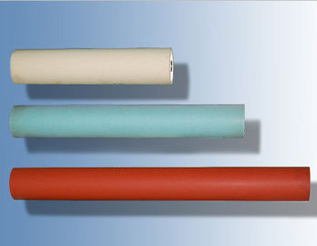 China Red Hard Small Rubber Rollers High Precision For Heat Transfer Machine supplier