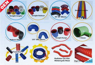 China High Temp Custom Silicone Tubing Elbow For Automotive , Rohs SGS Certification supplier