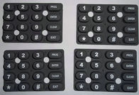China High - End Silicone Rubber Keypad Multi Color Matte Waterproof For Calculator factory