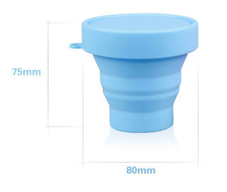 Flexible Bpa Free Silicone Water Cup With Lids For Kids , Adults Toothbrush Cup
