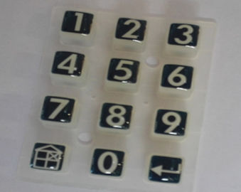 Multi Color Silicone Rubber Keypads For Calculator , Flat Keys Or Tactile Type