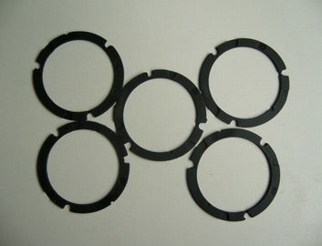 Die Cutting Solution Silicone Rubber Gasket , Black Custom Silicone Gaskets Strip Washer