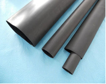 Black Thin Wall Custom Silicone Tubing Wire Heat Shrink Sleeving For Providing Protection