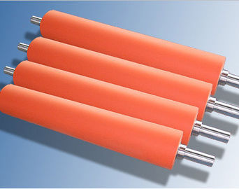 Hot Stamping Foil Silicone Rubber Roller Food Grade Silicone , Aluminum Hub Material