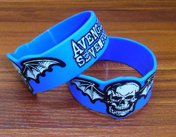 Adjustable Silicone Rubber Parts Silicone Rubber Wristbands With Embossed Print Design