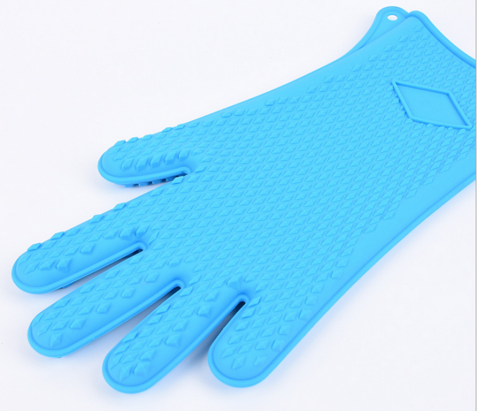 BBQ Grill Oven Mitt Rubber Oven Gloves , Silicone Gloves For Cooking , Washing