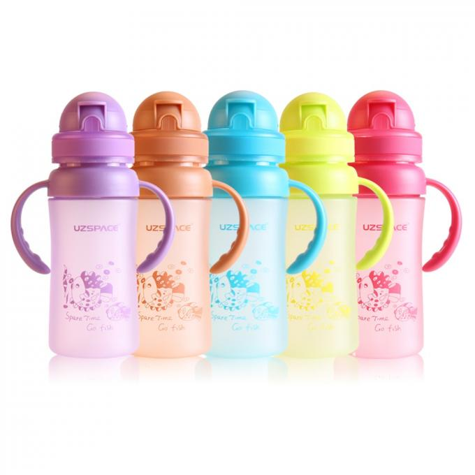 270ml with silicone straw baby bottle