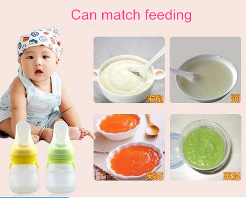 Design latest silicone baby feeding bottle with spoons, Baby silicone feeding bottle/baby feeding bottle with spoon